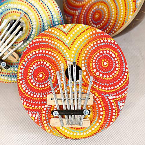 (LeSharp Tap Keyboard Instrument, Multicolor Handmade 7 Key Tuneable Finger Piano Kalimba Thumb Musical Instrument - Random Pattern)