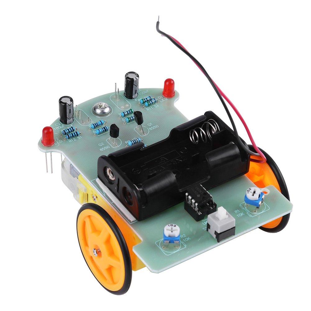 Set di componenti elettronici kit accessori auto fai-da-te Smart Tracking Car Robot Kit