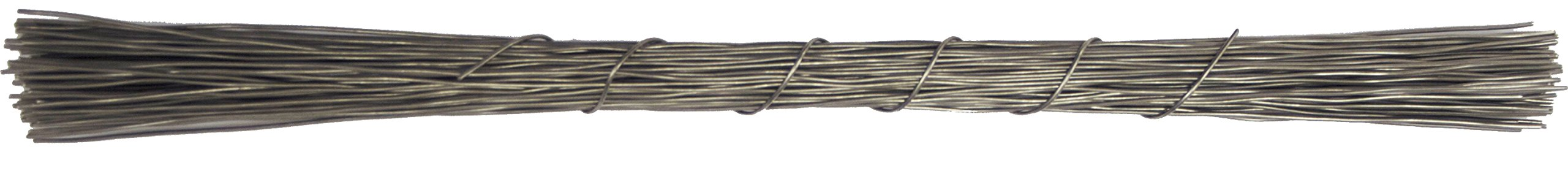 12'' inch Galvanized Steel Wires (Pack of 100) by National Band & Tag Company
