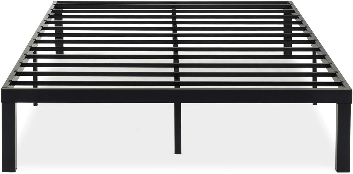 Best Price Mattress Twin Bed Frame – Clip2Lock 14 Inch Metal Platform Beds w Heavy Duty Steel Slat Mattress Foundation No Box Spring Needed , Black