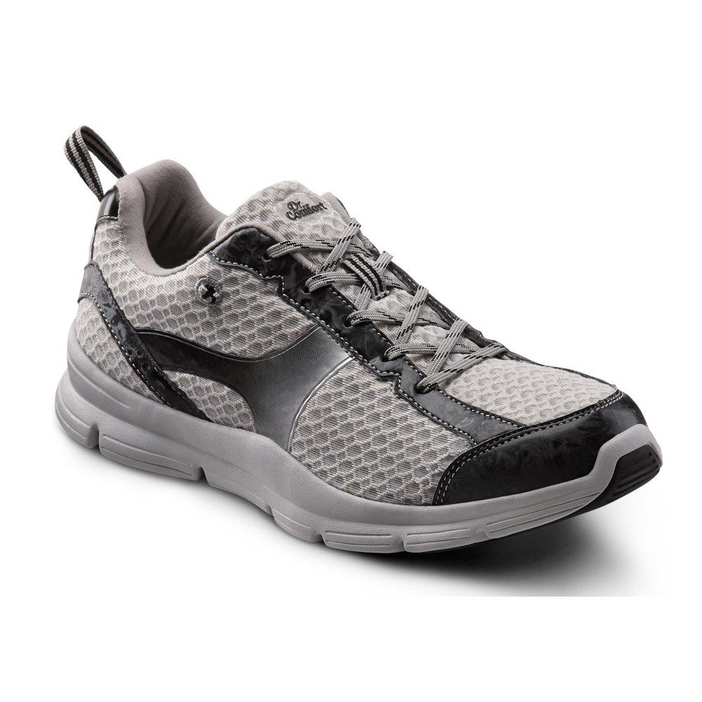 Dr. Comfort Chris Men's Therapeutic Extra Depth Athletic Shoe leather/mesh lace-up B00L2O9J3M 9.5 X-Wide (3E/4E) US Men|Grey