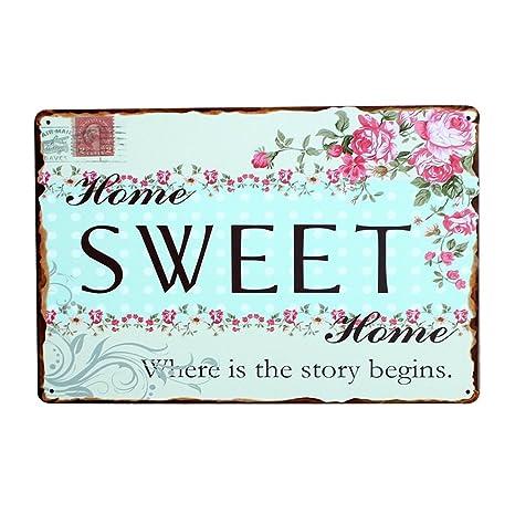 lumanuby 1 x placa de puerta de palabra Sweet metal Cartel ...