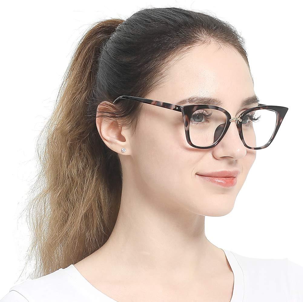 e542e8e44347 Home / Health and Household / SOOLALA Womens Quality Readers Stylish  Oversized Cat Eye Custom Reading Glasses