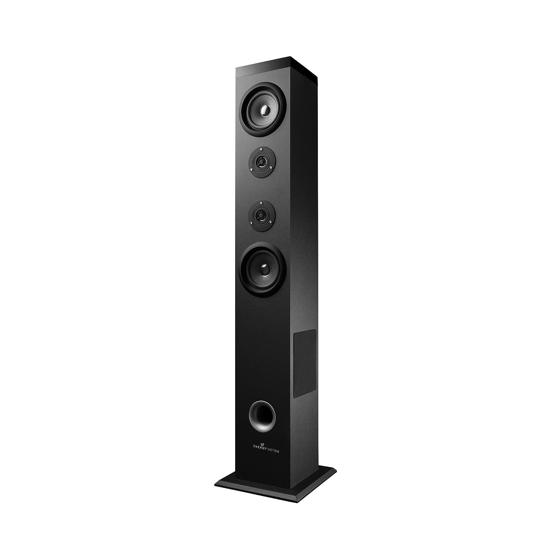 Energy Tower 5 Torre de Sonido con Bluetooth y Mando a Distancia (60 W, Panel Táctil, USB/SD y Radio FM) - Negro