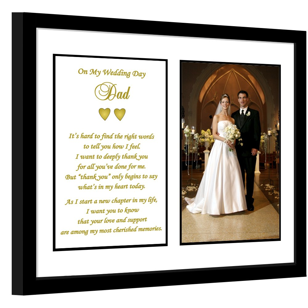 Dad Thank You Wedding Gift, Thank You Poem Frame from Son or Daughter, Add Photo by Poetry Gifts