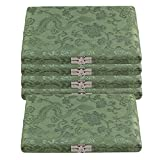 BQLZR Green Silk Satins Wood Oboe Reed Box Reed Case with Flannel Slot Inside for Oboe 12-Reeds Pack of 5