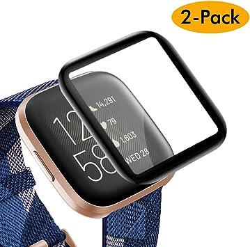 KIMILAR Pantalla Compatible con Fitbit Versa 2 Protector Pantalla ...