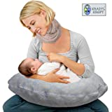 Kradyl Kroft 5in1 Baby Feeding Pillow with Detachable Cover (Cool)