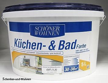 Küchen  Und Badfarbe Weiß Matt 5,0 L Schöner Wohnen