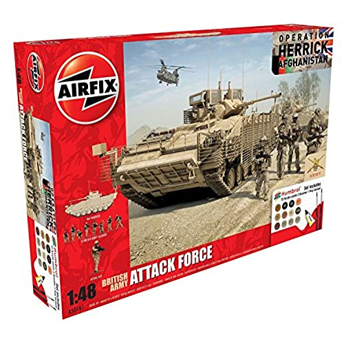 Airfix A50161 British Army Attack Force 1:48 Military Plastic Model Gift Set for cheap