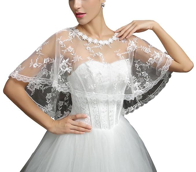 Trendy Xu Women Lace Mesh Bridal Wedding Shawl Wrap Shrug Bolero