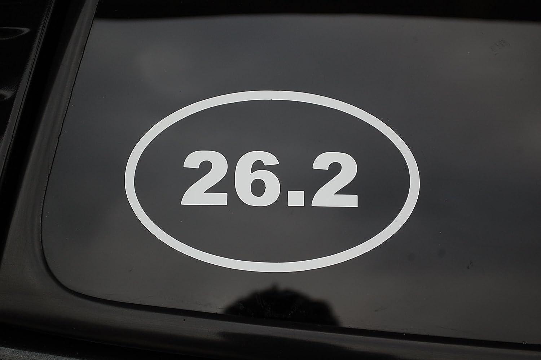 Jogging Running Run White V149 Five Star Graphics 26.2 Oval Marathon Mens Womens Vinyl Sticker Decal
