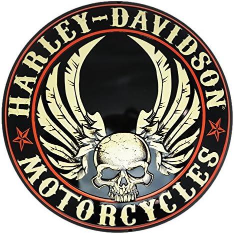 2010471 Harley-Davidson Gearhead Skull Round Die-Cut /& Embossed 14 Inches Round