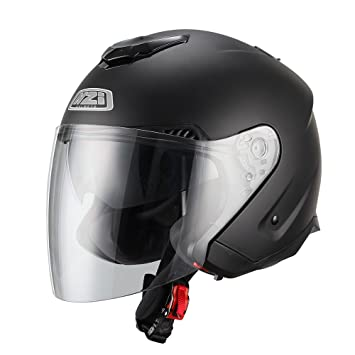 NZI 150257G067 Avenew Casco de Moto, Color Negro Mate, Talla XL (61-