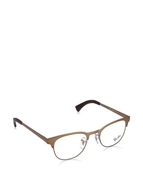 Amazon.com: Ray-Ban anteojos rx6317 2836 mate café 49 20 140 ...