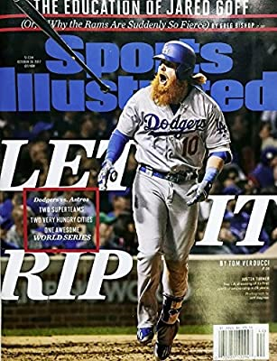 Sports Illustrated Magazine (October 30, 2017) Let It Rip World Series 2017 Justin Turner Cover
