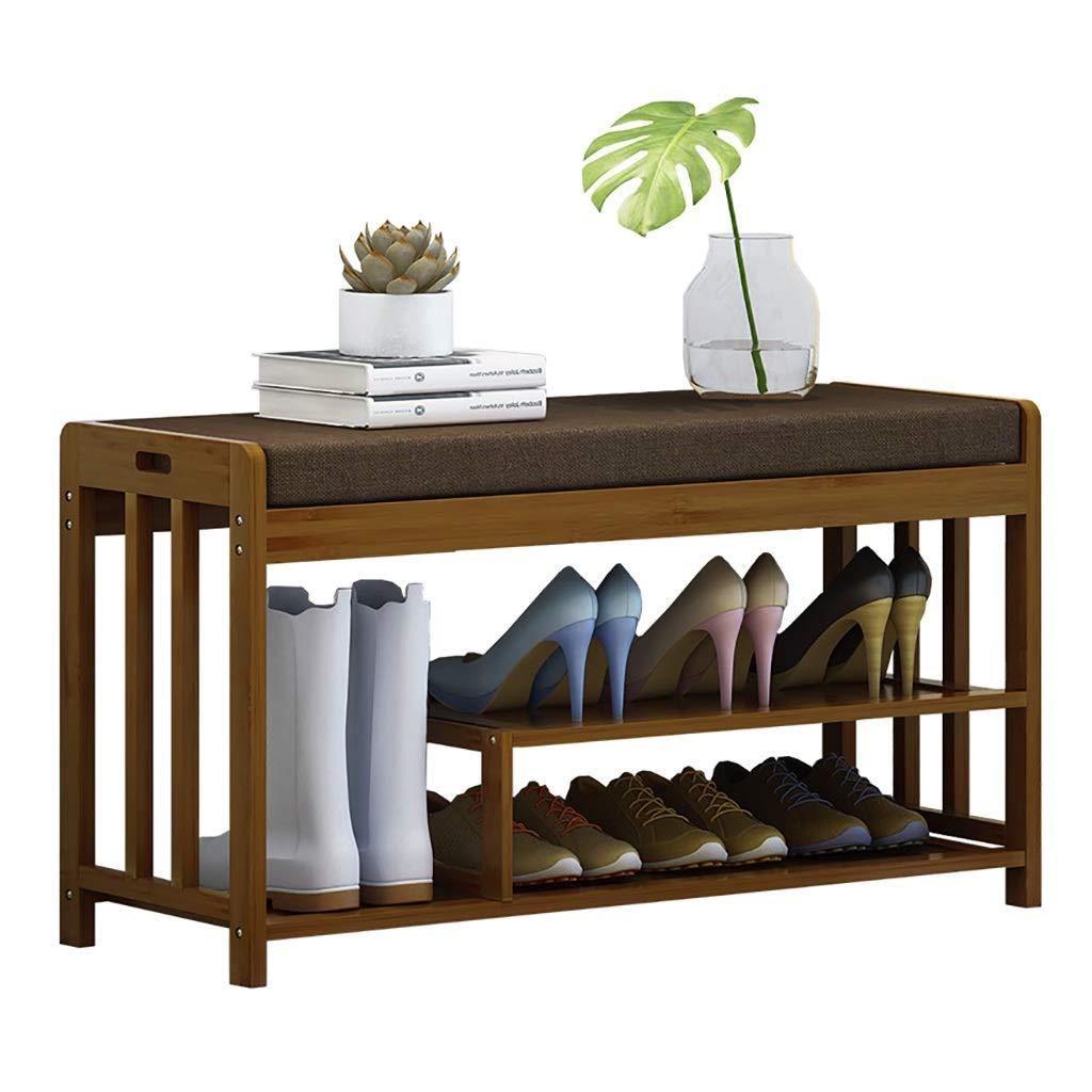 木製の靴のベンチ、収納シューズラック、ソファスツール、廊下、バスルーム、リビングルームに最適、あなたはブーツを保存することができます B07TC7ZCGF