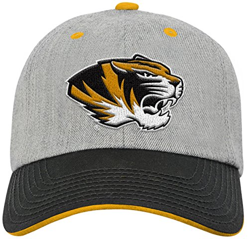 NCAA by Outerstuff NCAA Missouri Tigers Youth Boys Chainstitch Heather Twill Slouch Hat, Heather Grey, Youth One Size