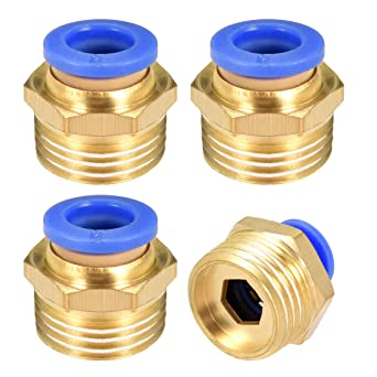 Pack of 5) Beduan Pneumatic Plastic Push to Connect Fittings 12 mm Tube OD Straight Quick Connector Fitting