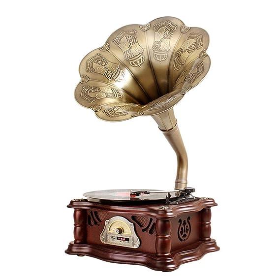 LVSSY-Gramófono Decoracion Hogar Clasico Tocadiscos Cuerno ...