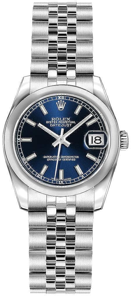 b20d5acd7d6 Rolex Lady-Datejust 26 179160 Cadran bleu 26 mm de luxe montre  Amazon.fr   Montres