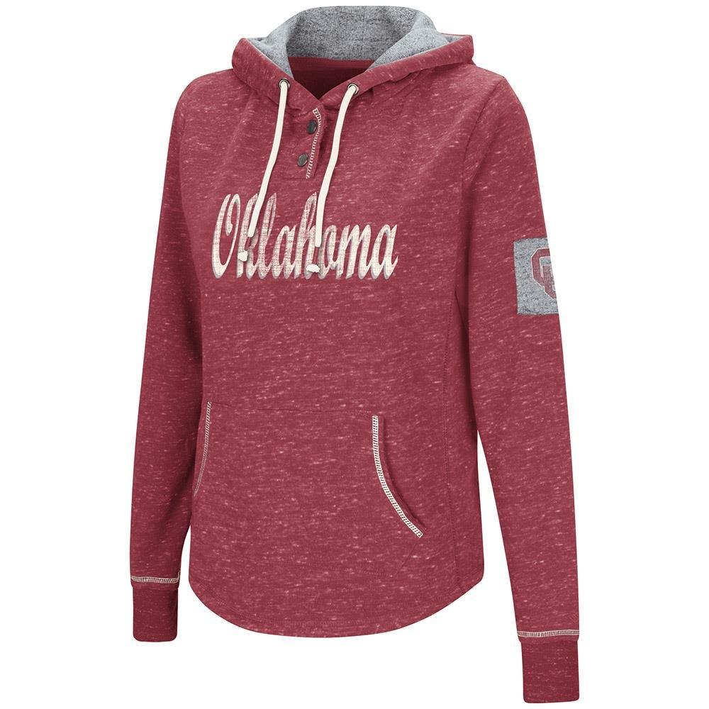 Colosseum Womens Oklahoma Sooners Fleece Hoodie - S