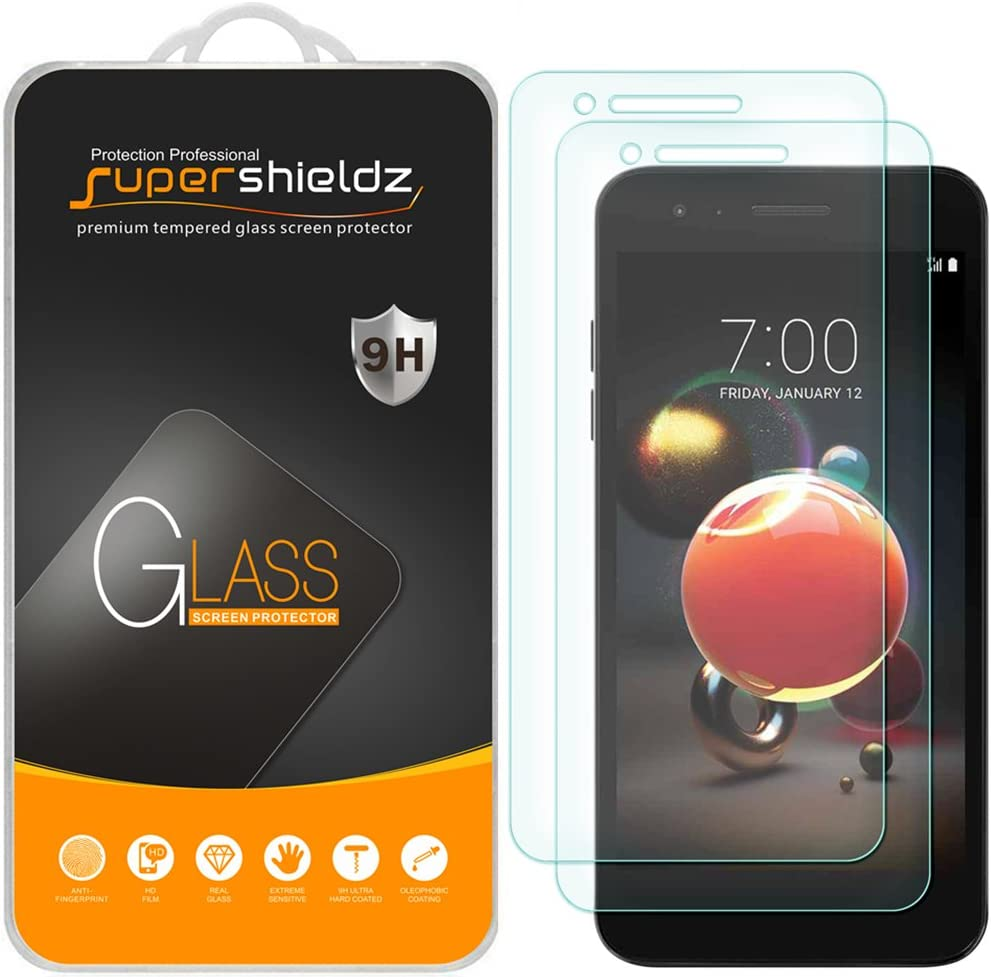 (2 Pack) Supershieldz for LG K8 (2018) Tempered Glass Screen Protector, 0.33mm, Anti Scratch, Bubble Free