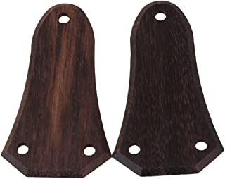 BQLZR 51.2mm x 28.9mm x 2mm Guitar Ebony Truss Rod Covers Pack of 2