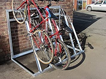Vertical Bike//Cycle Stacker Manufactured for 4 Bikes by Bison Products