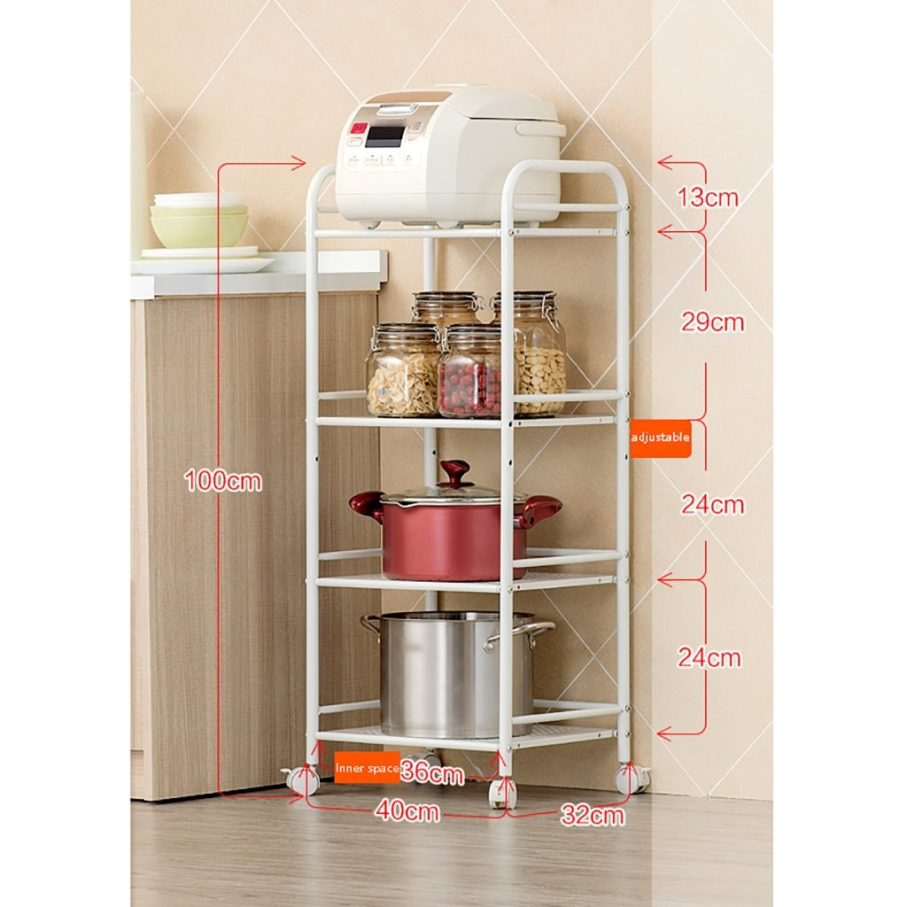 LXLA棚棚電子レンジオーブンキッチンはどこにでも移動可能フロアスタンド多層カーボンスチールキッチン記事4層の床4階(利用可能な40/50/60 * 32 * 100 cm) ( サイズ さいず : 50 cm 50 cm ) B07BGYLFK8 50 cm 50 cm 50 cm 50 cm