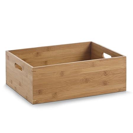 Zeller Storage Box, Bamboo, Multi Colour, 40 X 30 X 14 Cm