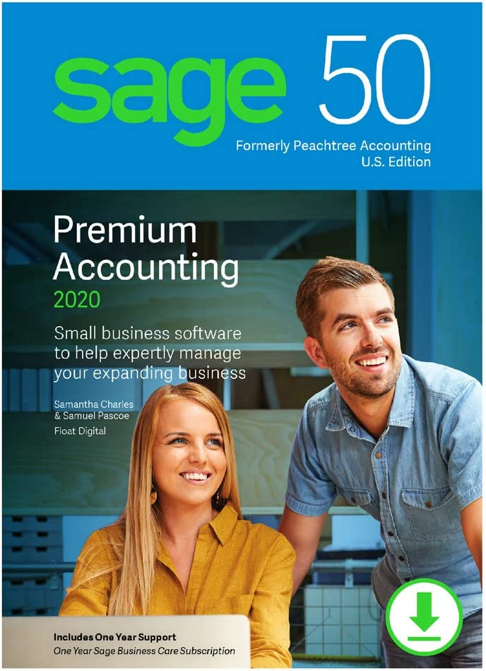 Sage 50 Premium Accounting 2020 U.S. 2-User [PC Download]