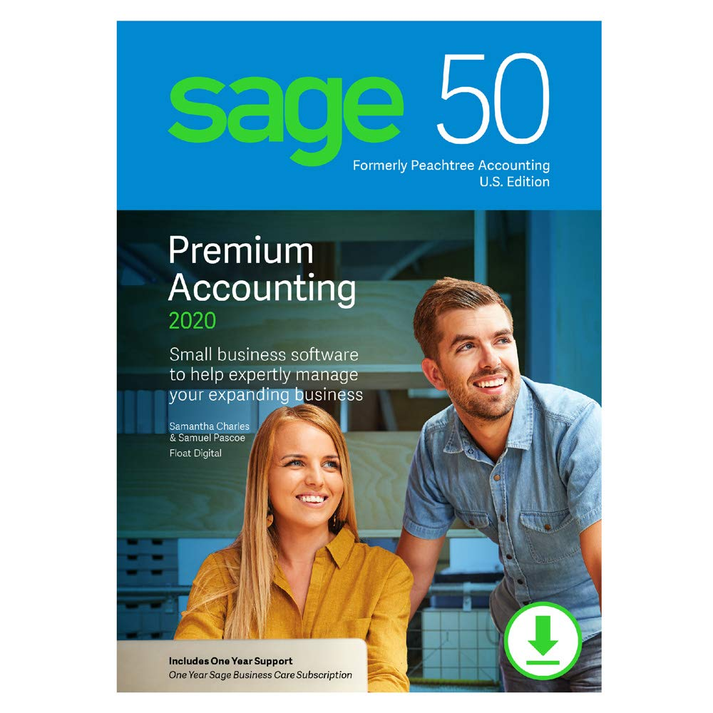 Sage 50 Premium Accounting 2020 U.S. 2-User [PC Download] by Sage Software