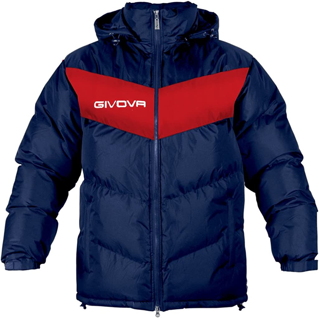 2XL Givova Winterjacke Giubbotto Podio Herren Winter Jacke mit Kapuze 3XS