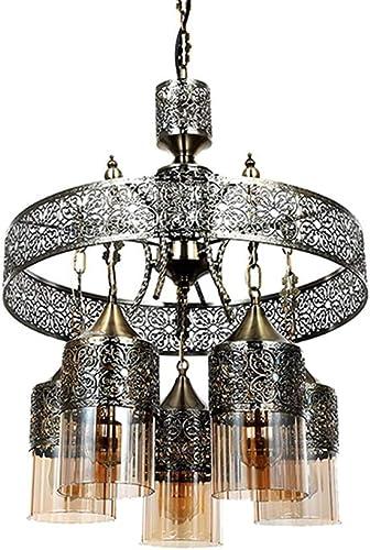 Nurluce Plug in Pendant Lights E26 Bulbs Kitchen Light Fixtures 5 Lights Vintage Moroccan Chandelier for Dining Rooms 40w Indoor Decor Light Fixtures Ceiling Vintage Lighting Fixtures