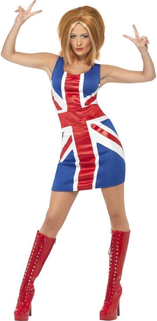 NET TOYS Disfraz de Spice Girl Traje Chica Sexy Vestuario Cantante ...