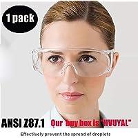 Gafas de seguridad médicas, antivaho, protección contra salpicaduras de líquido, lentes transparentes, de visión amplia, ajustable, quirúrgicas, protección para los ojos, unisex