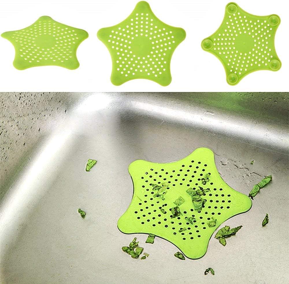 Doccia 4 Filtri raccogli rifiuti Bagno Capelli Colori Random Cucina Lavandino Silicone Vasca Ventose