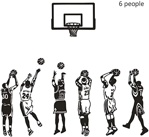WMM NBA Star Stickers Decoración for el hogar Pintura PVC ...