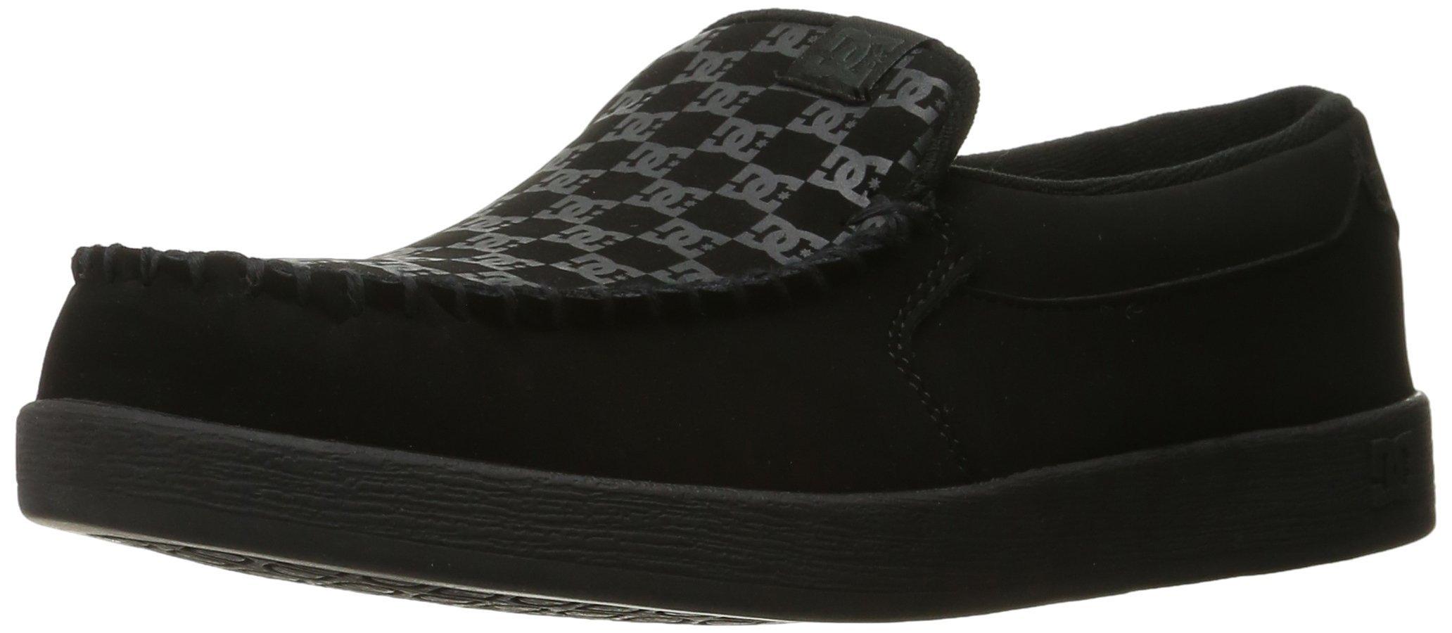 DC Men's Villain TX Slip Skate Shoe, Black Print, 10 D D US