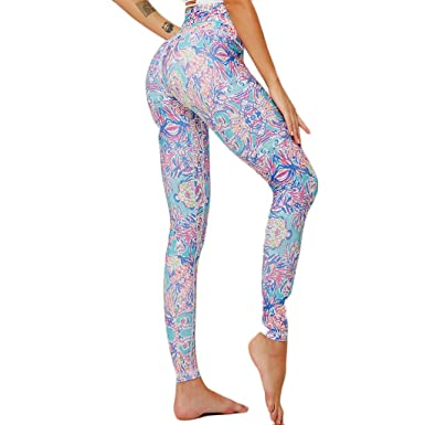 cinnamou Pantalon Yoga Push Up para Mujer Leggings Estampado ...