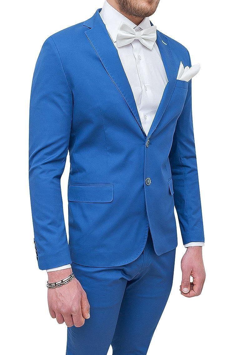 Abito completo uomo Trade Sartoriale azzurro elegante made in Italy con  papillon e pochette ingrandisci c63a79c5a96