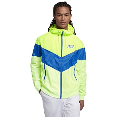 lowest price 72274 85949 Nike Sportswear Windrunner Mens Jacket (VoltCobalt BlazeBarely Volt,  Large)