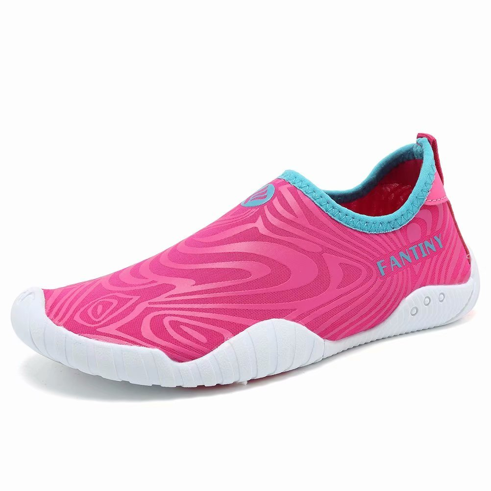 CIOR Kids Water Shoes Quick-Dry Boys Girls Slip-On Aqua Beach Sneakers,U118SSX005,5XPink,30
