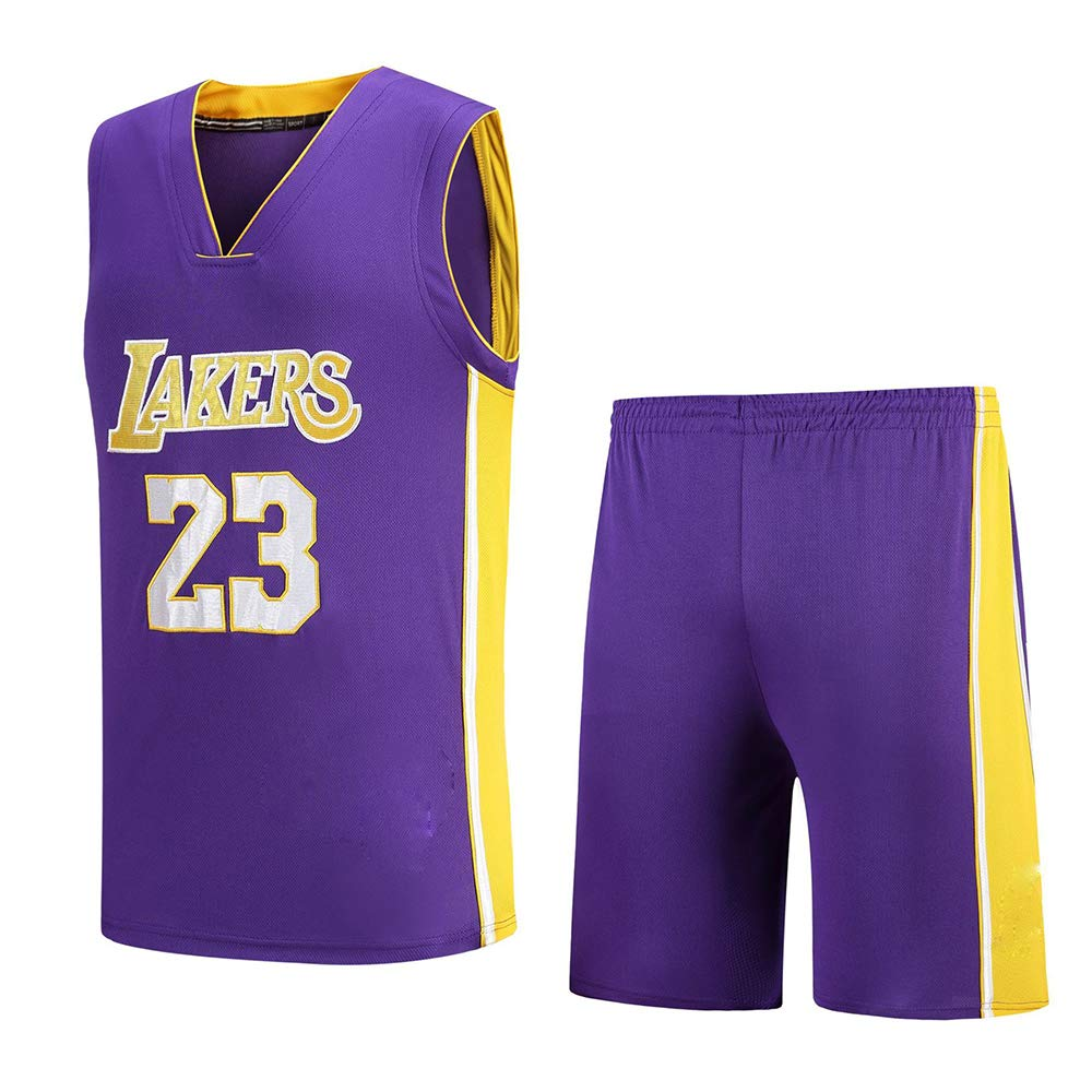 Cavaliers, Lakers, 23rd James New Jersey, Juego De Jersey De Baloncesto Bordado: Amazon.es: Deportes y aire libre