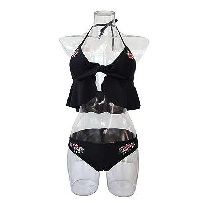 2018 New Alicia hot Selling Swimsuit Ladies Split Bikini Flower Embroidery Swimsuit