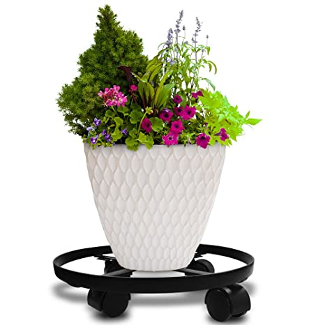 Amazoncom 14 Metal Plant Caddy Heavy Duty Iron Potted Plant