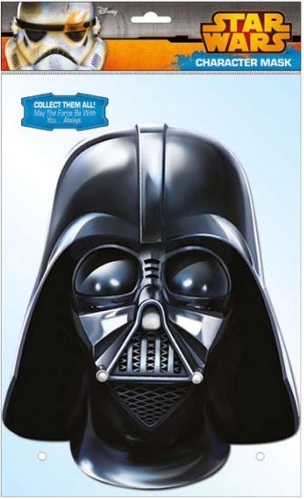 STAR WARS - Official Darth Vader Card Face Mask: Amazon.es: Juguetes y juegos