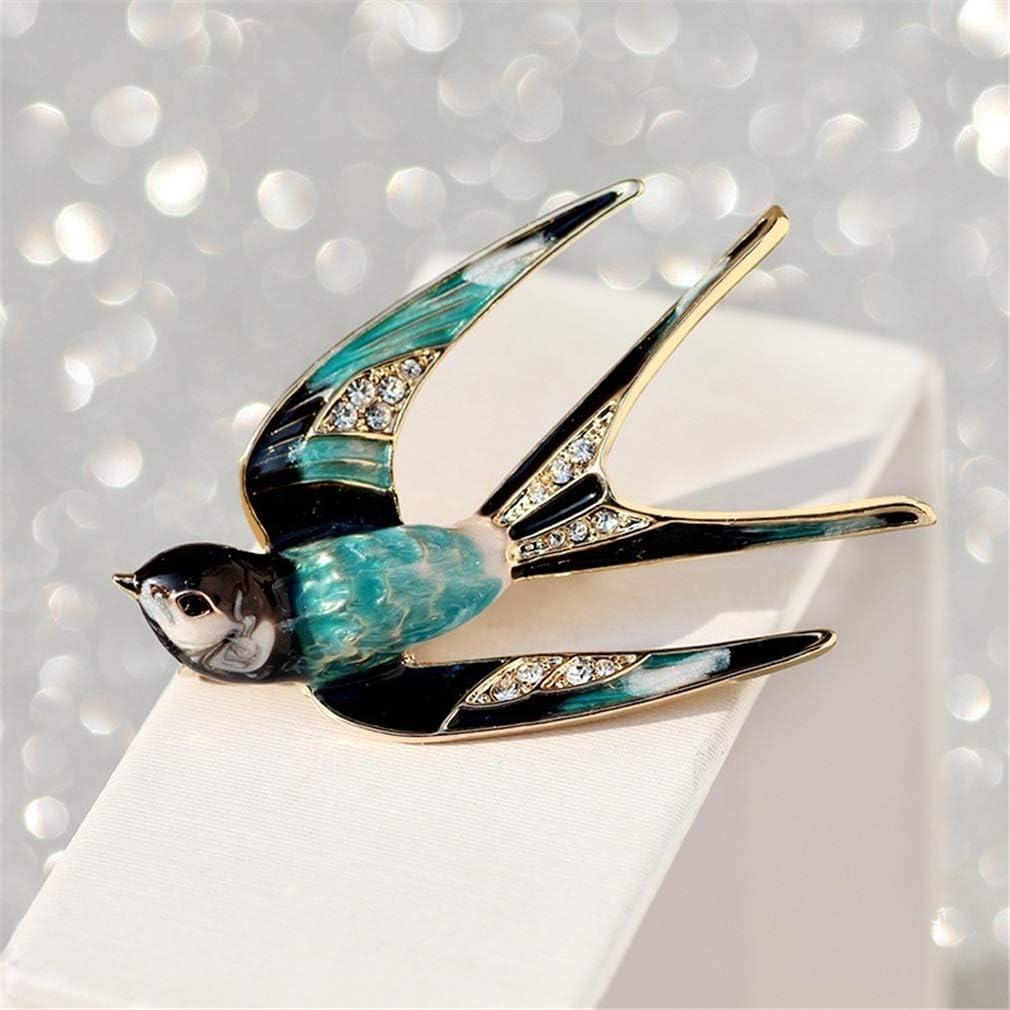 2,9 cm Vintage Incrustation Faux Strass Broches Corsage /Écharpe Boucle D/écorations Accessoires,2,4,8 N//A Liangwan Femmes Hirondelle Strass Broche