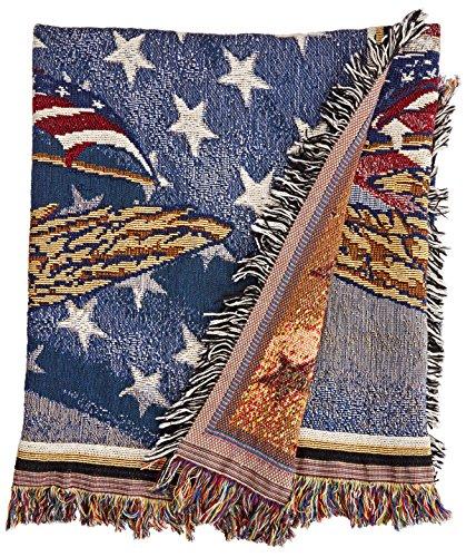 Simply Home U.S. Coast Guard Tapestry Throw